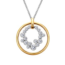 0.66 CTTW 2 Tone Simulated Diamond Classic Necklaces