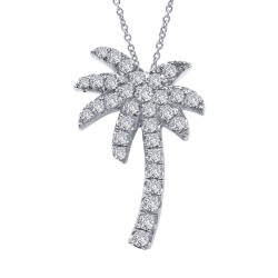 0.28 Cttw Platinum Simulated Diamond Classic Necklaces