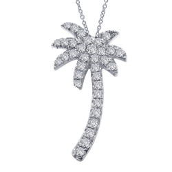 0.34 Cttw Platinum Simulated Diamond Classic Necklaces