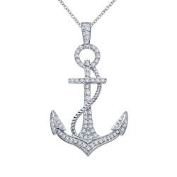 0.74 Cttw Platinum Simulated Diamond Classic Necklaces