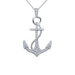 0.5 Cttw Platinum Simulated Diamond Classic Necklaces