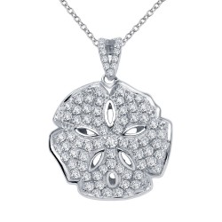 1.58 Cttw Platinum Simulated Diamond Classic Necklaces