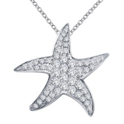 0.84 Cttw Platinum Simulated Diamond Classic Necklaces