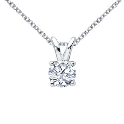 1.65 Cttw Platinum Simulated Diamond Classic Necklaces