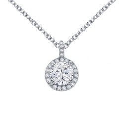 1.05 Cttw Platinum Simulated Diamond Classic Necklaces