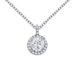 1.05 Cttw Platinum Simulated Diamond Classic Necklaces