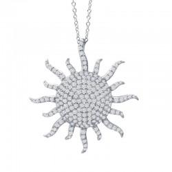 1.47 Cttw Platinum Simulated Diamond Classic Necklaces