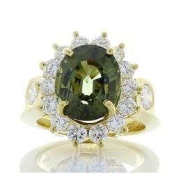 18K Yellow Gold Tourmaline Gemstone Ring