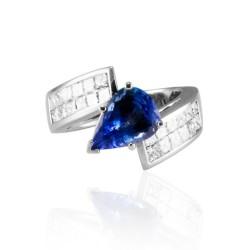 18K White Gold Tanzanite Gemstone Ring
