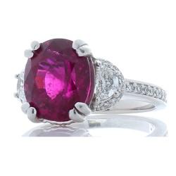 14K White Gold Tourmaline Gemstone Ring