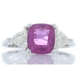 18K White Gold Sapphire Gemstone Ring