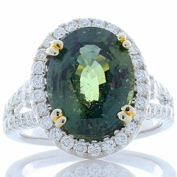 18Kt White Gold Sapphire Gemstone Ring