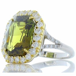 Plat/18Kt Platinum/Yellow Gold Alexandrite Gemstone Ring