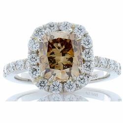 Platinum Diamond Gemstone Ring