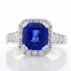 14K White Gold Sapphire Gemstone Ring
