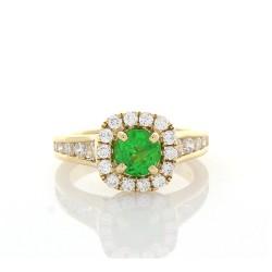 18K Yellow Gold Tsavorite Gemstone Ring
