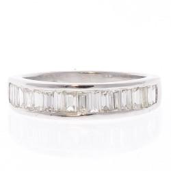 14K White Gold Diamond Gemstone Ring