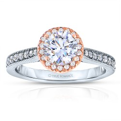 Rm1286rtt-14k White Gold Round Cut Halo Diamond Semi Mount Engagement Ring