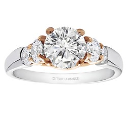 Round Cut Center Diamond Classic Semi Mount Engagement Ring