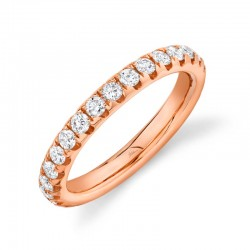 1.21ct 14k Rose Gold Diamond Eternity Band Size 7