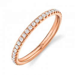 0.40ct 14k Rose Gold Diamond Eternity Lady