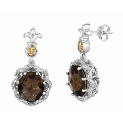 "0.08Ct Diamond 18Kt Yellow Gold Sterling Silver Rock Candy Drop Earring. Next Generation Of ""Rock Candy"" Collection."