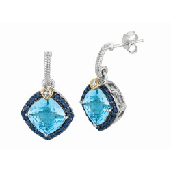 "0.44Ct. Diamond Blue Topaz Iolite 18Kt Yellow Gold Sterling Sil Ver Rock Candy Earring. Next Generation Of ""Rock Candy"" Collecti On."