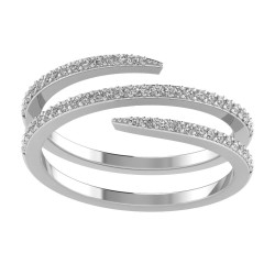 Spiral Diamond Band