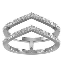 Chevron Twin Tiara Ring