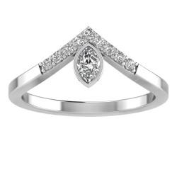 Large Marquise V Tiara Ring