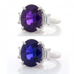 Platinum Sapphire Gemstone Ring