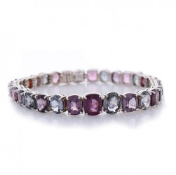18Kt White Gold Spinel Gemstone Bracelet