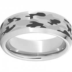 Serinium® Beveled Band with Camouflage Laser Engraving