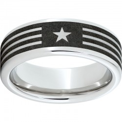 Serinium® Pipe Cut Band with American Laser Engraving