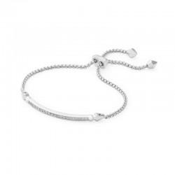 Ott Bracelet Gold Metal White Cz Bar