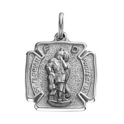 Sterling Silver ST. FLORIAN CHARM MODELED