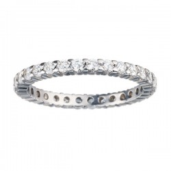 Etr702-14k White Gold Eternity Band