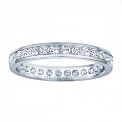 Etr704-14k White Gold Eternity Band