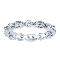 Etr803-14k White Gold Eternity Band