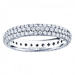 Etr804-Platinum  Round Diamond Pave Set Eternity Band