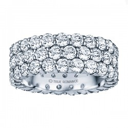 Etr902-14k White Gold Eternity Band