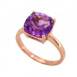 EFFY 14K Rose Gold Amethyst Ring