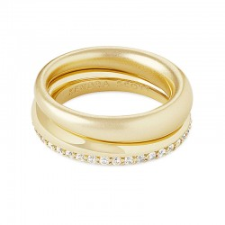 Colette White Cz Gold Tone Ring Size 7