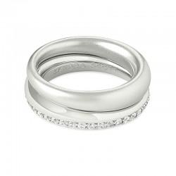 Colette White Cz Rhodium Ring Sz 7