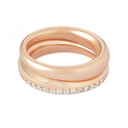 Colette White Cz Rose Tone Ring Siz 7