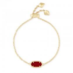 Elaina Dark Red Gold Tone Bracelet