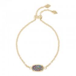 Elaina Multi Drusy Gold Tone Bracelet