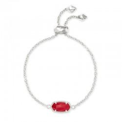 Elaina Bright Red Rhodium Bracelet