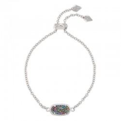 Elaina Multi Drusy Rhodium Bracelet
