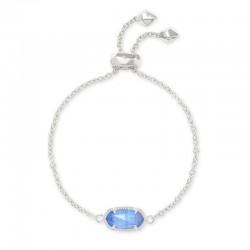 Elaina Periwinkle Cats Eye Rhodium Bracelet